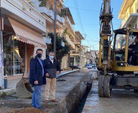 Επίσκεψη Δημάρχου Ανδραβίδας-Κυλλήνης στο έργο που αφορά την αντικατάσταση των Αγωγών Ύδρευσης