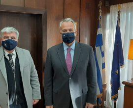 Συνάντηση του Δημάρχου Πρέβεζας με το νέο Υπουργό Εσωτερικών