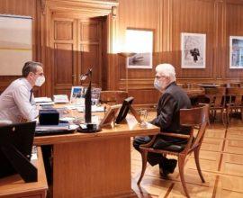 Συνάντηση Δημάρχου Ιωαννίνων με τον Κυρ. Μητσοτάκη