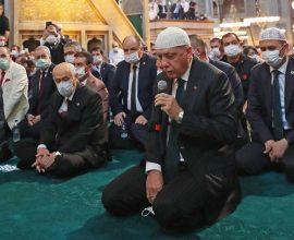 Ερντογάν: Προσευχήθηκε στην «Αγιά Σοφιά» και είδε όραμα συνάντηση με Μητσοτάκη
