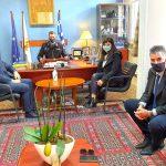 Συνάντηση της Α. Χαλιμούδρα με τον Περιφερειακό Διοικητή Π.Υ. Δυτικής Ελλάδας
