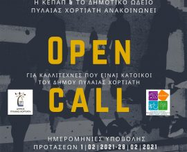 «OPEN CALL» για καλλιτέχνες που είναι κάτοικοι του Δήμου Πυλαίας-Χορτιάτη