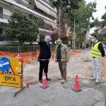 Αυτοψία Δημάρχου Αμαρουσίου σε ασφαλτόστρωση επί της οδού Παναγή Τσαλδάρη