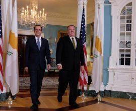 Επικοινωνία Πομπέο-Χριστοδουλίδη για Κυπριακό και εξελίξεις στη Μεσόγειο