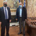Συνάντηση Π. Νίκα με τον Υπουργό Εσωτερικών Μ. Βορίδη