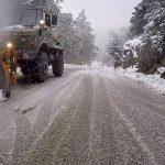 Χιονίζει σε πολλές περιοχές της Κεντρικής Μακεδονίας