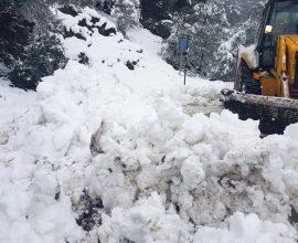 Περιφέρεια Πελοποννήσου: Που καταγράφονται προβλήματα, λόγω των χιονοπτώσεων