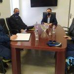Επίσκεψη του διοικητή της Περιφερειακής Πυροσβεστικής Διοίκησης Δ. Μακεδονίας στον Δήμαρχο Φλώρινας