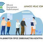 Δήμος Ν. Ιωνίας: Μεταφορά δημοτών προς τα εμβολιαστικά κέντρα