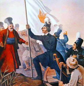 Ο Αλ.Υψηλάντης υψώνει τη σημαία της Επανάστασης στην Μολδοβλαχία