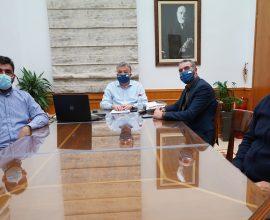 Τηλεδιάσκεψη με τον Υπουργό Αγροτικής Ανάπτυξης και Τροφίμων με εκπροσώπους αγροτών της Κρήτης