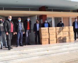Δωρεά 23.000 μασκών και αντισηπτικών στα σχολεία της Καρδίτσας