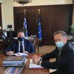 Επίσκεψη Δημάρχου Μακρακώμης στον Αναπληρωτή ΥΠΕΣ Στέλιο Πέτσα