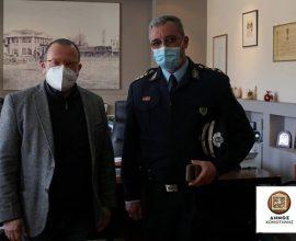 Επίσκεψη του Διοικητή της Σχολής Δοκίμων Αστυφυλάκων στον Δήμαρχο Κομοτηνής