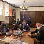 Συνάντηση Δημάρχου Καισαριανής με Στέλιο Πέτσα και Τάκη Θεοδωρικάκο