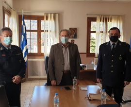 Επίσκεψη του νέου Αστυνομικού Διευθυντή Καστοριάς στον Δήμαρχο Νεστορίου
