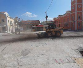Δήμος Ληξουρίου: Ασφαλτοστρώσεις σε κεντρικούς δρόμους της πόλης