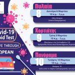 Νέα rapid tests στον Δήμο Πυλαίας-Χορτιάτη