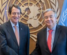 Κύπρος: Πρόσκληση σε Αναστασιάδη για την Άτυπη Πενταμερή από τον ΓΓ του ΟΗΕ