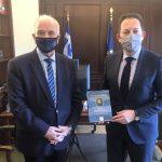Με τον Αναπληρωτή Υπουργό Εσωτερικών συναντήθηκε ο Δήμαρχος Μεσολογγίου