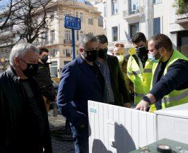 Επίβλεψη Πατούλη των εργασιών εκσυγχρονισμού της φωτεινής σηματοδότησης στην πλατεία Κολωνακίου