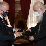 Συνάντηση του Δημάρχου Μεσολογγίου με τον Αρχιεπίσκοπο Αθηνών και Πάσης Ελλάδος
