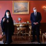 Δένδιας σε Οικουμενικό Πατριάρχη: «Οι πρωτοβουλίες σας έχουν εξαιρετικό ενδιαφέρον για εμάς»