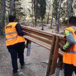 ΣΠΑΥ Υμηττός: Σταδιακή αντικατάσταση του φθαρμένου ξύλινου εξοπλισμού