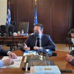 Συνάντηση εργασίας Δημάρχου Κορινθίων με τον αναπληρωτή ΥΠΕΣ και τον Υφυπουργό Ανάπτυξης