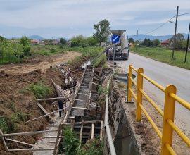 Κατασκευή τοιχίου αντιστήριξης από την Π.Ε Καρδίτσας στη γέφυρα της Τ.Κ. Προδρόμου