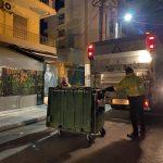 Απολύμανση και καθαρισμός κάδων απορριμμάτων στο Δήμο Παπάγου – Χολαργού