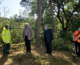Παρουσία του Δημάρχου Αμαρουσίου οι εργασίες καθαριότητας και αποψιλώσεων στην περιοχή της Δωδώνης