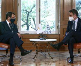Συνάντηση Μητσοτάκη-Αναστασιάδη για Κυπριακό: «Βιώσιμη λύση χωρίς στρατεύματα κατοχής και εξαρτήσεις»