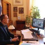Συμμετοχή Δημάρχου Σύρου-Ερμούπολης σε τηλεδιάσκεψη με Μητσοτάκη για τους εμβολιασμούς στα νησιά