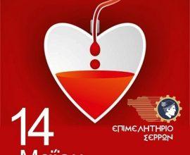 Εθελοντική αιμοδοσία στο Επιμελητήριο Σερρών την Παρασκευή (14/5)