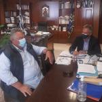 Π.Ε. Τρικάλων: Συνάντηση Μιχαλάκη – Ζούρτου για αναβάθμιση των αθλητικών υποδομών στην Πηγή