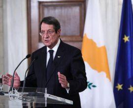 Αναστασιάδης: «Η ΕΕ δεν δέχεται ως λύση στο Κυπριακό αυτό που προτείνει η Τουρκία»