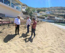 Εργασίες αναβάθμισης και Γαλάζιες Σημαίες στις παραλίες του Δήμου Φαιστού