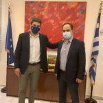 Επίσκεψη Υφυπουργού Αθλητισμού Λ. Αυγενάκη στον Δήμαρχο Καρδίτσας