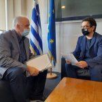Συνάντηση Δημάρχου Μεσολογγίου με τον Γ.Γ. Κοινωνικής Αλληλεγγύης  και Καταπολέμησης της Φτώχειας