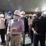 Στο εργοτάξιο του σταθμού μετρό «Δημοτικό Θέατρο» ο Δήμαρχος Πειραιά και ο Υπουργός Υποδομών