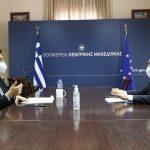 ΠΚΜ: Τα έργα στο Άγιον Όρος και ζητήματα του Απόδημου Ελληνισμού συζήτησαν Τζιτζικώστας-Βλάσης