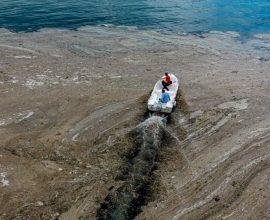 Στην ευρύτερη θαλάσσια περιοχή της Λήμνου η βλέννα του Μαρμαρά