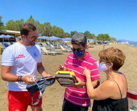 Ξεκίνησε η ναυαγοσωστική κάλυψη στις παραλίες του Δήμου Χανίων