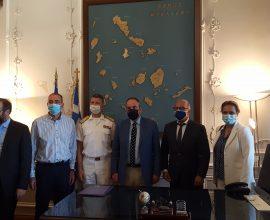 Δήμος Σύρου- Ερμούπολης: Επίσκεψη του Υπουργού Ναυτιλίας στην Σύρο