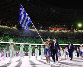 Η Ελληνική Σημαία άνοιξε την είσοδο των 206 χωρών στο στάδιο του Τόκιο