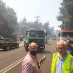 Στα σημεία εκδήλωσης της μεγάλης πυρκαγιάς που ξέσπασε στον Δήμο Διονύσου ο Αντιπεριφερειάρχης Αν. Αττικής
