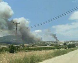 Μεγάλη πυρκαγιά στο Καλέντζι Κορινθίας