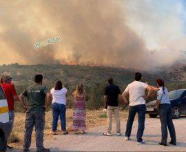 Εκκένωση στην Γκάτζια Επιδαύρου στην Αργολίδα – Ανεξέλεγκτη η πυρκαγιά