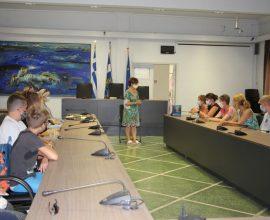 Υποδοχή εκπαιδευτικών & μαθητών προγράμματος ERASMUS στο Δημαρχείο Χανίων